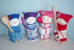 Leuke handdoek theedoek poppen leuk als kado tegeven. Ook te koop in mijn webshop
