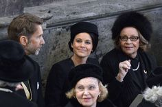 Sofia Hellqvist, girlfriend of Prince Carl Philip at the funeral of his great aunt Princess Lilian