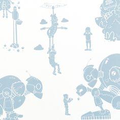 Robot Wallpaper for Children | Robots | PaperBoy Wallpaper for Kids Bedrooms