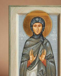 St. Emmelia of Caesarea / Икона святой Емилии Кесарийской. Icon painting studio Nebo / Иконописная Мастерская Небо (@neboicons) • Фото и видео в Instagram
