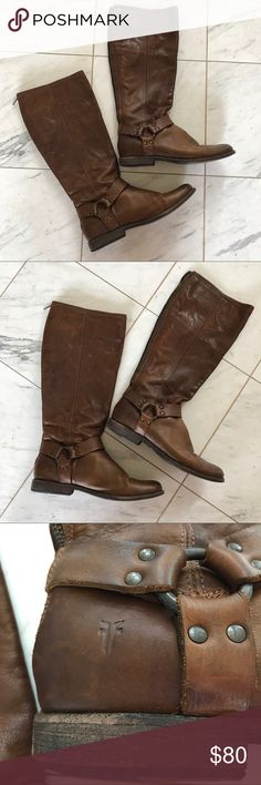 Frye Tan Boots Frye, Tan Boots, Size 10 - worn in with love!☺️ Frye Shoes Combat & Moto Boots