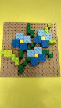 What's a mosaic? Mosaico Lego, Lego Therapy, Modele Lego, Used Legos, Lego Mosaic, Jewish Celebrations, Lego Wall, Lego Craft, Lego Builder