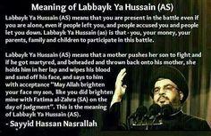 Meaning of Labbayk Ya Hussain