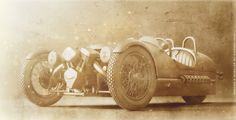 Morgan 3 Wheeler, Old look Clay Render 3D Artist: Germano Vieira Company: PICSIMstudio