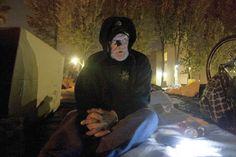 Santa Ana police ticket the homeless for sleeping outside. Seems ironic...