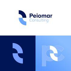 peiomar Consulting _ logo design designed by Alaa choichnia . Typography Logo, Logo Branding, Branding Design, Ci Logo, Lettering, Bank Branding, Graphic Design Tools, Web Design, Corporate Logo Design
