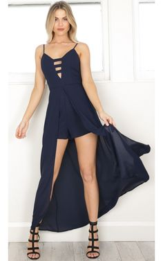 Formal Playsuit, Maxi Playsuit, Romper Dress, Dress Me Up, Types Of Dresses, Cute Dresses, Formal Dresses, Prom Outfits, Fashion Outfits