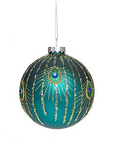 Belk Home Accents� All That Glitters Blue Peacock Ball Ornament
