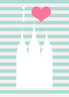 so cute! #temple #printable lds Mormon salt lake temple with stripes