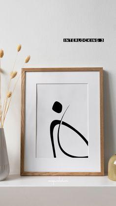 Interlocking Three. Minimal line and shape abstract, simple, elegant design for a minimalistic black and white aesthetic. #art #prints #drawing #abstract #simple #blackwhite #minimalism #modernart #shapes #lines #scandi #scandinavian #symbolism Modern Art, White Aesthetic, Art Prints, Black And White Aesthetic, Wall Art, Abstract Art, Art, Abstract, Abstract Print