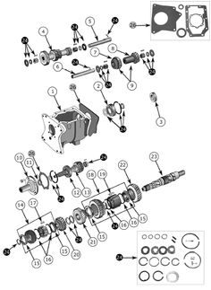 T-176 and T-177 Shift Cover Exploded View Diagram The