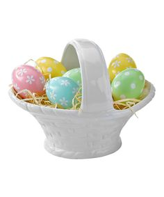 Look at this Ceramic Easter Basket on #zulily today!
