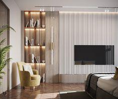 Office Interior Design, Bathroom Interior Design, Living Room Tv Unit Designs, Bedroom Tv Unit Design, Indian Bedroom Design, Modern Tv Room, Indian Home Interior, Interiores Design, Sofa Design