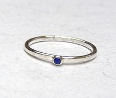 Engagement Ring blue stone lapis lazuli ring Recycled by OritNaar, $55.00
