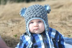 Bear Hat from VeeVee's Accessories on Etsy
