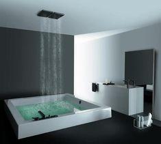 It looks like the bathtub is floating