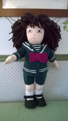 Zisa doll hand knitted sailor suit