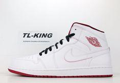 Nike Air Jordan 1 Retro Mid White Gym Red 554724 103 Msrp  110 FW  Nike 4c5bcf01e5b