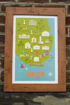 This map of Charleston from #Almamatermaps is TO DIE FOR! :) great #gift for everyone!