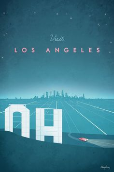Los Angeles by Henry Rivers - canvas print