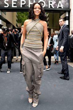 Cargo Is A Go! Rhianna Evening Cargo Embellished Criss-Cross Hater Designer Women's Fashion Summer 2014