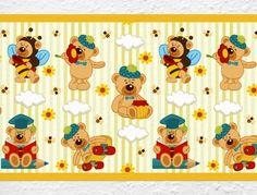 Teddy Bordüre für Kinderzimmer