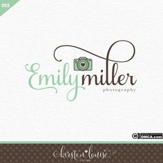 Premade Camera Logo Photography Logo by KirstenLouiseDesign Business Logo, Business Card Design, Business Cards, Logo Desing, Camera Logo, Photographer Logo, Cursive Fonts, Mind Body Soul, Media Design