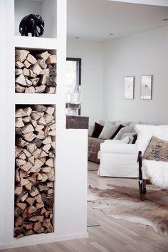 Kannustalo Harmaja My Dream Home, Firewood, Cosy, Dining Room, Cottage, House Design, Interior Design, Inspiration, House Interiors