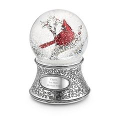 Personalized Cardinal Musical Snow Globe , Add Your Message Snowman Snow Globe, Christmas Snow Globes, Christmas Stuff, Elegant Christmas, Beautiful Christmas, Glitter Globes, Musical Snow Globes, Water Globes, Christmas Decorations