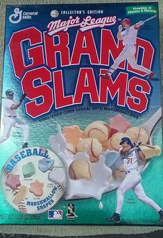 General Mills Major League Grand Slams box Bonds Piazza Mcgwire more 90s vintage vtg by Fchoicevintage on Etsy