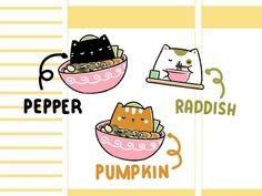 Cute Cat Sticker | Functional Stickers | Ramen Cats Cat Stickers, Sell On Etsy, Planner Stickers, Neko, Ramen, Fun Crafts, Etsy Seller, Best Gifts, Etsy Shop