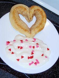 I love the idea of yogurt with heart sprinkles on top >> Valentines Breakfast Idea