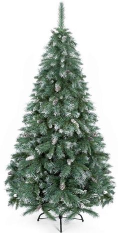 Love artificial green snow-tipped Christmas trees!
