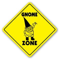 """GNOME ZONE Sign novelty gift garden lawn by ZANYSIGNS. $8.99. Perfect for Indoor or Outdoor. Top Quality Sign. Proudly Made In the U.S.A.. Perfect Gift Idea!!!. Brand New. This is a brand new 12"""" tall and 12"""" wide diamond shape sign made from weatherproof plastic with premium grade vinyl. The sign is perfect for indoor or outdoor use, made to last at least 3-4 years outside. The sign has rounded corners and a 1 hole pre-drilled for easy mounting. These signs will not ru..."""