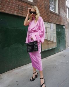 Wrapped in pink silk for @solacelondon (at New York, New York)