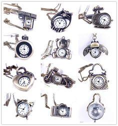 Hot Sale Unique Vintage Mens Lady Analog Pocket Watch Chain Pendant Necklace