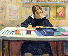 bofransson:    Study, or the Schoolgirl, Puy, Jean (1876-1960)