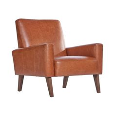 Marlon Armchair in Old English Tan Leather - The Conran Shop