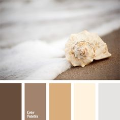 Soft pastel palette that combines coffee, milk and cream shades. Gray and white accentuate warm shades. Ideal for bathroom interiors. In clothes this palette is suitable for evening dresses, business blouses and shirts.