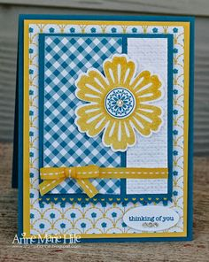 Stamps: Mixed Bunch and Teeny Tiny Wishes  Paper: Gingham Garden, Daffodil Delight, Island Indigo and Whisper White card stock   Ink: Daffod...