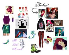 """Double My Little Mermaid"" by animefreak1042 ❤ liked on Polyvore featuring Tobi, Liliana, Simone I. Smith, Disney, STELLA McCARTNEY, Abbey Dawn, women's clothing, women, female and woman"