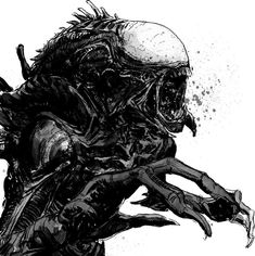 Alien warm up. by T-RexJones
