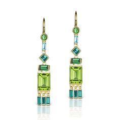 Tassel Earrings with Peridot