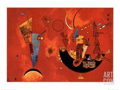 Mit und Gegen, c.1929 Art Print by Wassily Kandinsky at Art.com