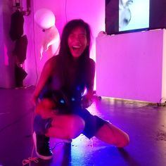 When you're having too much fun in #vr!! 😂😂 #junpintothelight #virtualreality #fun #girl #awesome #jitl #les #nyc #lowereast #lowereastsidenyc #orchard #pink #thingstodo #game #arcade #cinema #playlab #180orchard #nightlife #vrclub #nyny #nyvr #thefutureisnow @jumpintothelightnow