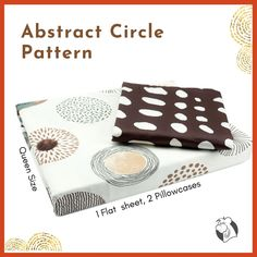Create a simple yet chic look in your guest room with a queen-size abstract circle print that creates a classic look to pops against the soft base. Featuring a circle pattern with a natural colour palette of brown, beige and grey on off white background will complete the look with matching pillowcases.  #balooworldotca #homedecor #bedsheet #bedsheets #bedsheetonline #bedsheetcotton #beddingsets #cottonbedsheets #beddingsheets #bedding #summercollection #summerbedding #beddingcollection #bedroom Flat Sheets, Bed Sheets, Brown Beige, Grey, Change Your Address, Nature Color Palette, Circle Pattern, Clothes Line, Laundry Detergent