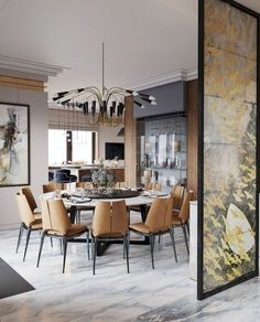 31 Of The Most Brilliant Modern Dining Table Design Ideas - Best Home Ideas and Inspiration Dinning Room Tables, Dining Table Design, Modern Dining Table, Dining Rooms, Kitchen Dinning, Room Kitchen, Interior Exterior, Luxury Interior, Interior Design