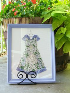 Framed Hanky Dress  Periwinkle Polka Dots and by HankyDresses, $75.00