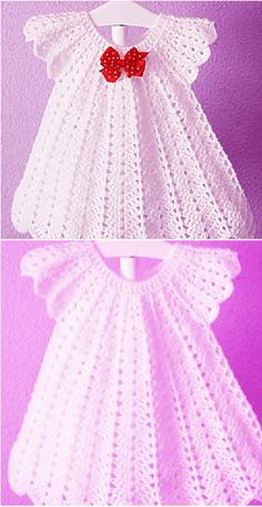 Fast and easy baby dress for christmas crochet baby christmas crochet dress easy fast crochet capelet hobbies Crochet Baby Dress Free Pattern, Beau Crochet, Crochet Mignon, Crochet Baby Blanket Beginner, Baby Dress Patterns, Baby Girl Crochet, Crochet Baby Clothes, Crochet Patterns, Crochet Ideas
