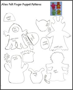 christmas finger puppet patterns | Kid Fun...Quiet Books ...